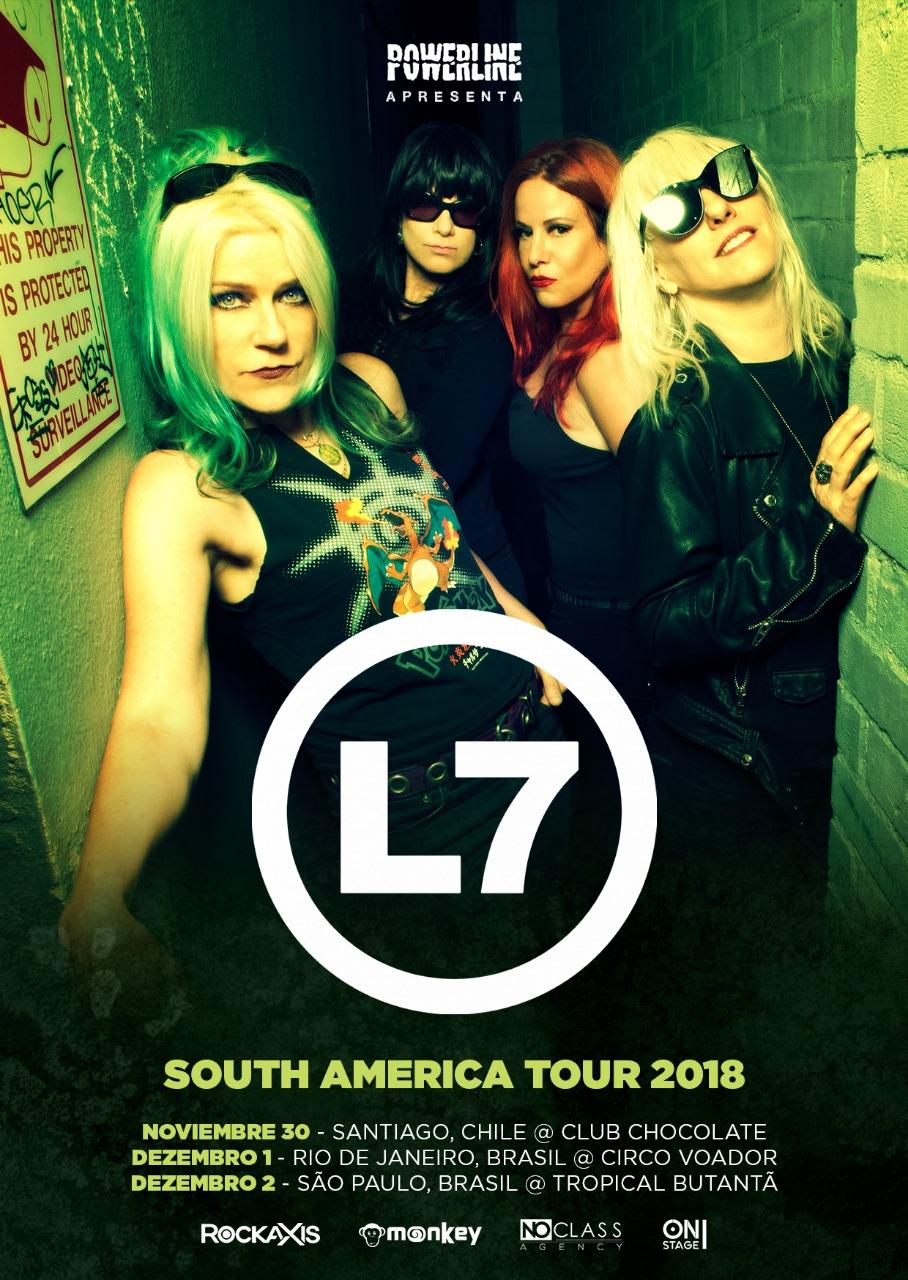 Cartaz L7 tour