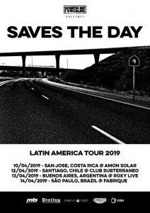Saves the Day anuncia show único no Brasil para 2019