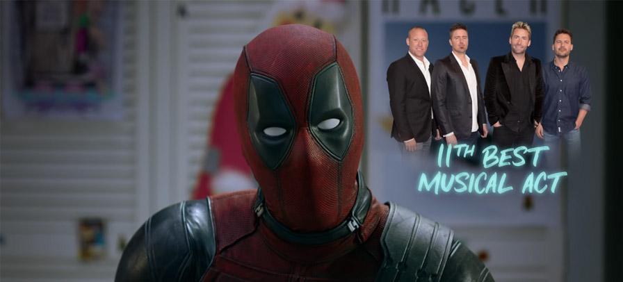 Deadpool defende Nickelback em novo teaser de filme natalino e banda reage
