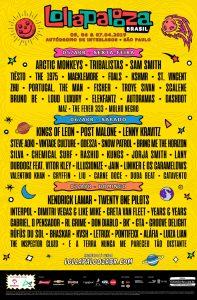 Lollapalooza Brasil 2019 por dia