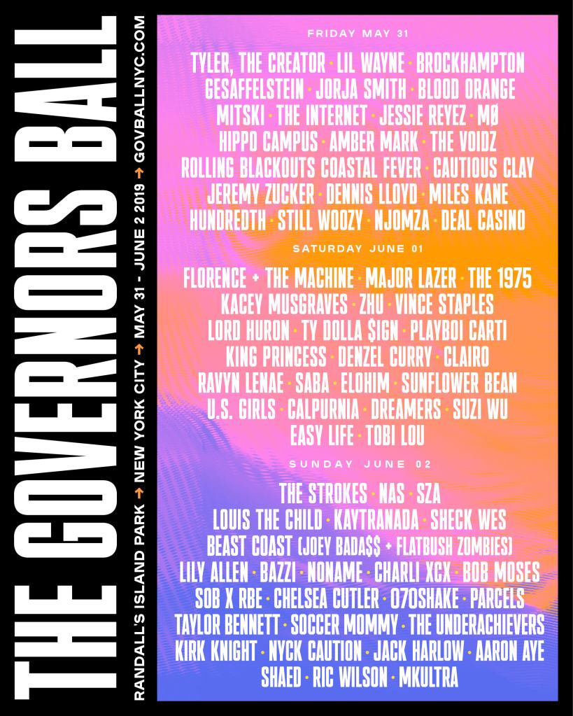 Lineup Governors Ball 2019