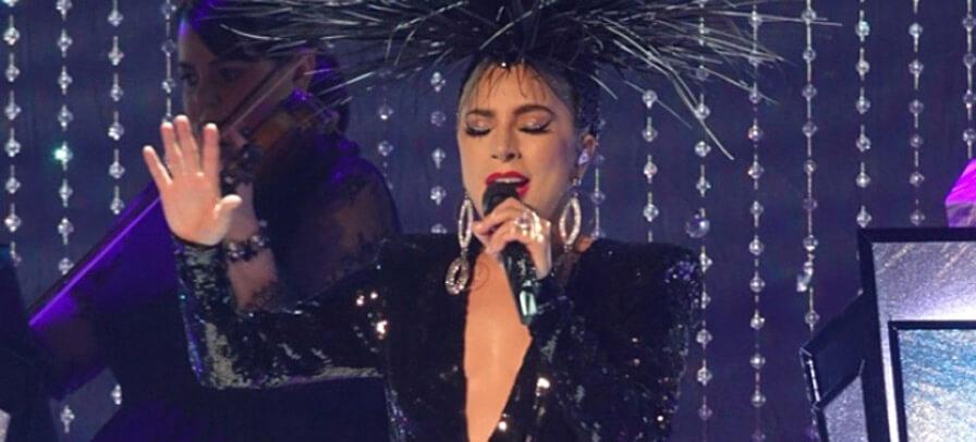 Lady Gaga durante a apresentação Jazz & Piano